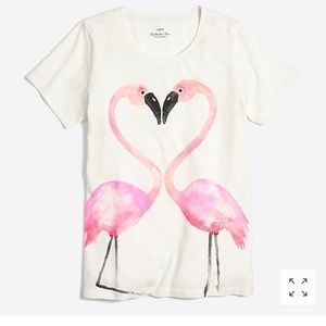 J. Crew Flamingo Love Collector Tee